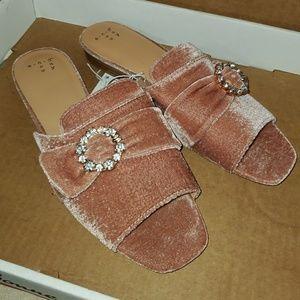 A New Day Velvet Slide Sandals